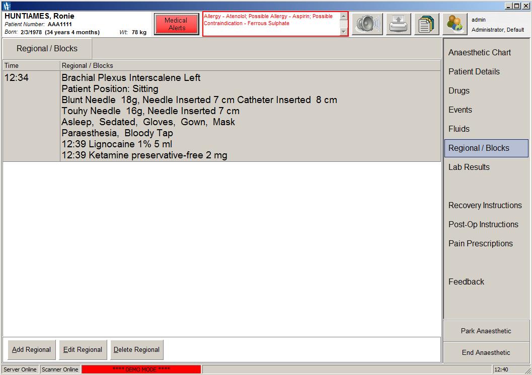 A screenshot of SAFERsleep OR System Regional Blocks