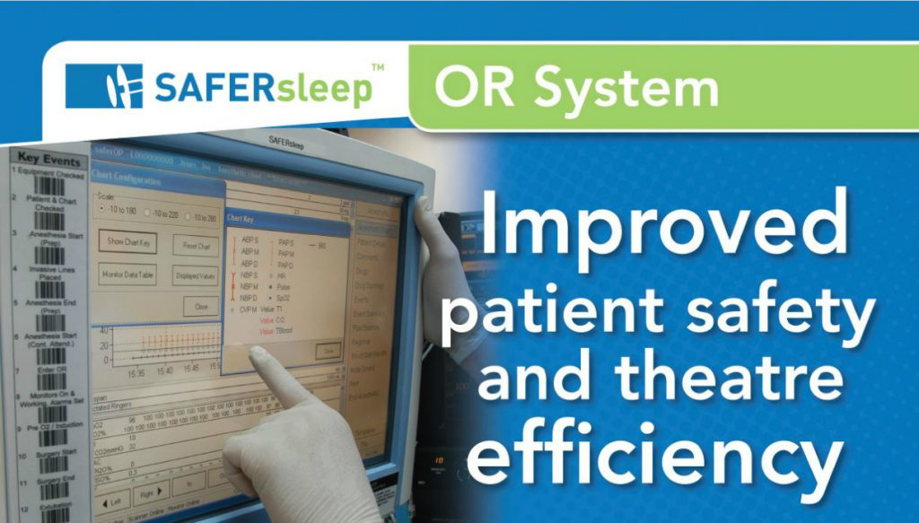 An anesthetist is using the SAFERsleep OR System.